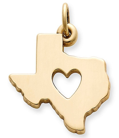 James Avery 14K Gold Deep In The Heart of Texas Charm