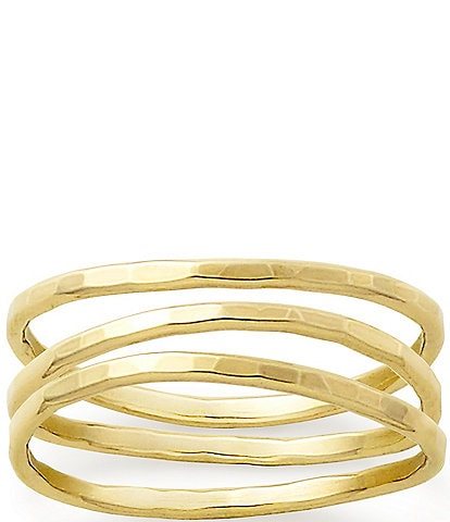 James Avery 14K Gold Entwined Trio Ring