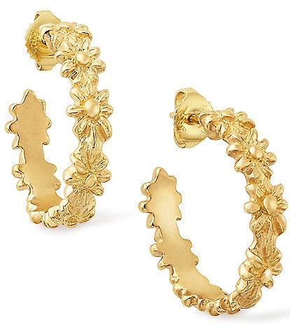 James Avery 14k Gold Margarita Hoop Ear Posts, Large