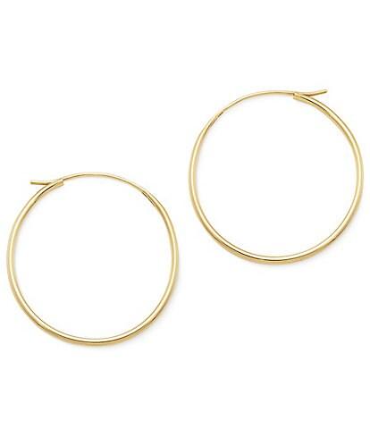 James Avery 14K Gold Medium Swedged Hoop Earrings