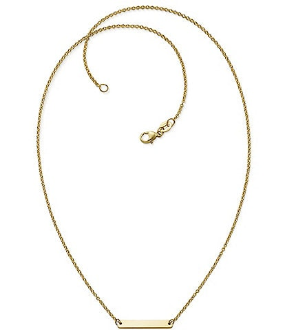 James Avery 14k Gold Petite Engravable Horizon Necklace