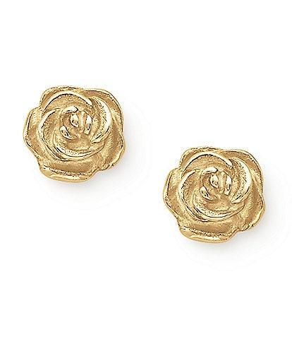 James Avery 14K Gold Rose Ear Posts