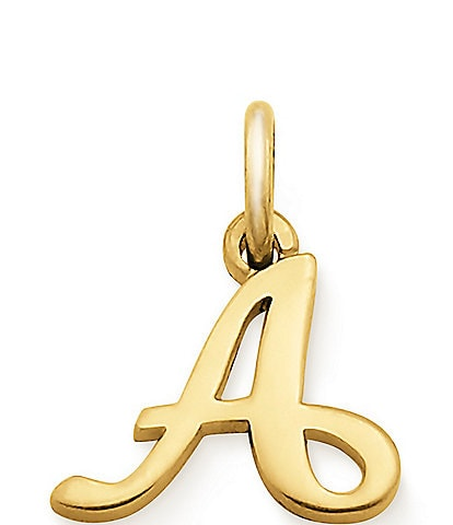 James Avery 14K Gold Script Initial Charm