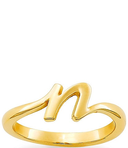James Avery 14k Gold Script Initial Ring