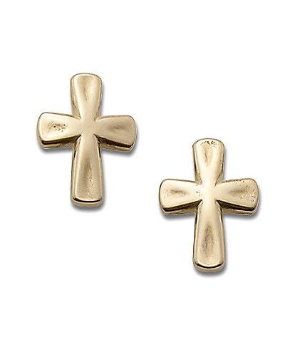 James Avery 14K Gold Sign of Faith Earrings