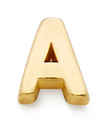 James Avery 14k Gold Single Itty Bitty Initial Stud Earring