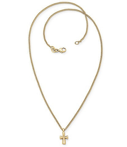 James Avery 14k Gold St. Teresa Cross with 16#double; Chain