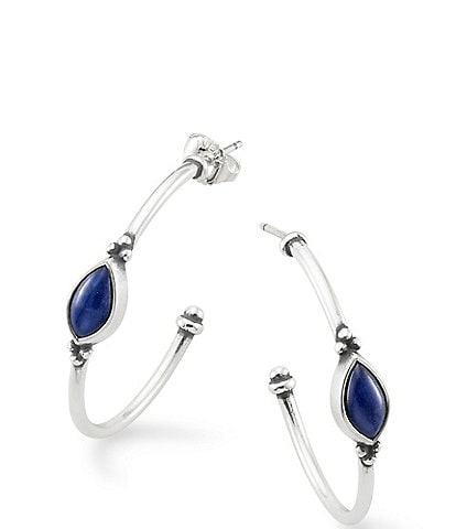 James Avery Adela Hoop Ear Sodalite Earrings