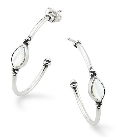 James Avery Adela Mother of Pearl Hoop Ear Posts