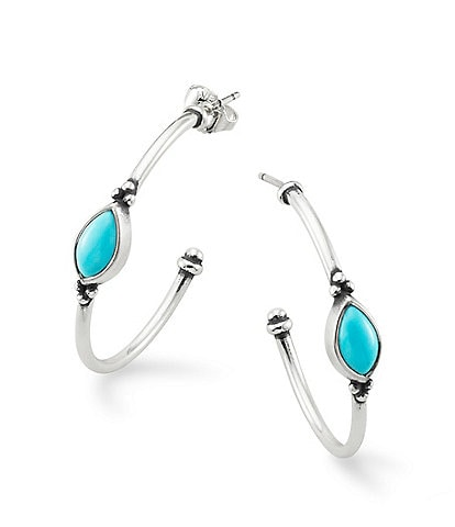 James Avery Adela Turquoise Hoop Earring