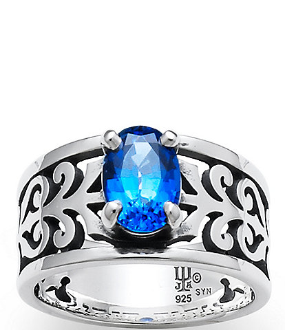 James Avery Adoree Ring with Lab-Created Blue Sapphire