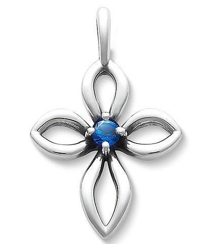 James Avery Avery Remembrance Cross September Birthstone with Lab-Created Blue Sapphire