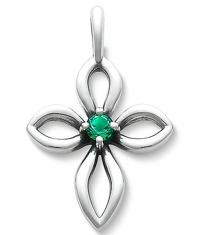James Avery Avery Remembrance Cross with Lab-Created Emerald