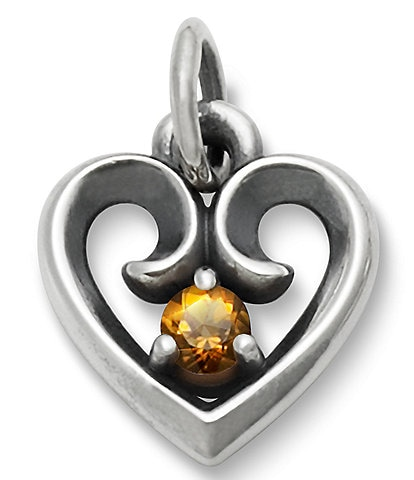 James Avery Avery Remembrance Heart Pendant with Citrine