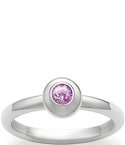 James Avery Avery October Birthstone Remembrance Ring with Lab-Created Pink Sapphire