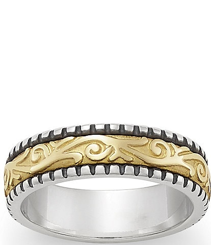 James Avery Beaded Scrolled Band Ring