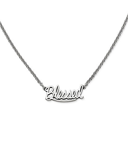 James Avery #double;Blessed#double; Adjustable Necklace