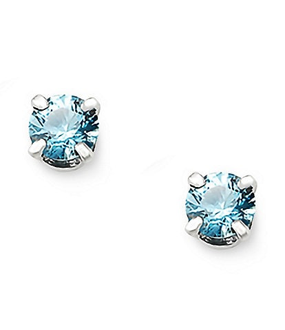 James Avery Blue Topaz Gemstone December Birthstone Ear Posts