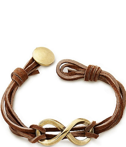 James Avery Bronze Infinity Leather Knot Bracelet