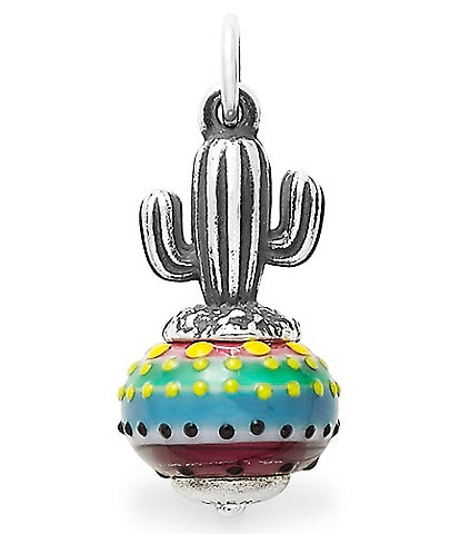 James Avery Cactus Art Glass Charm