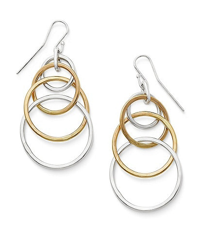 James Avery Cascading Circles Ear Statement Hooks