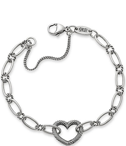 James Avery Changeable Heart Charm Bracelet