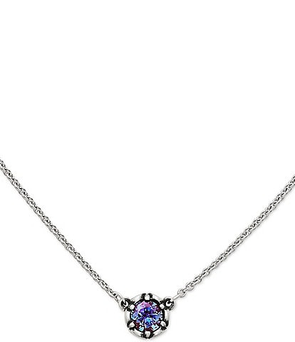 James Avery Cherished Birthstone Necklace with Lab-Created Alexandrite