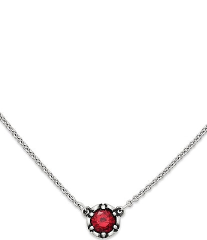 James Avery Cherished Birthstone Necklace with Lab-Created Ruby
