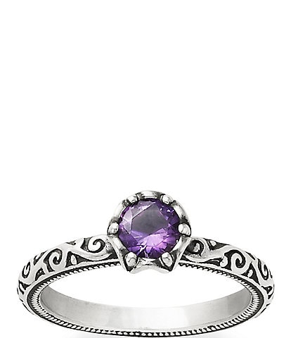 James Avery Cherished Birthstone Ring with Amethyst