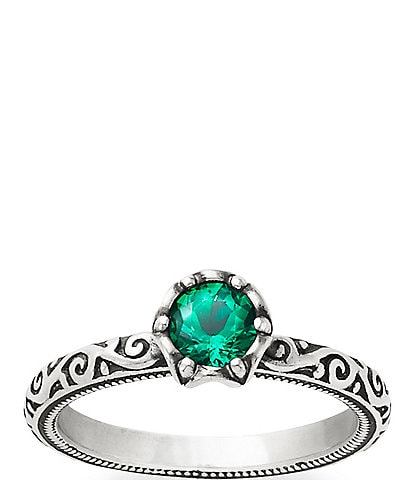 James Avery Cherished Birthstone Ring with Lab-Created Emerald