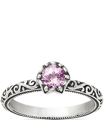 James Avery Cherished Birthstone Ring with Lab-Created Pink Sapphire