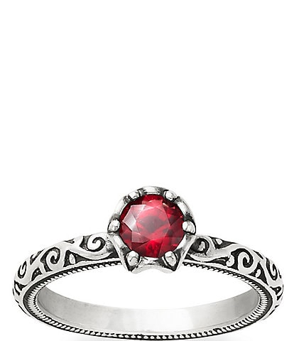 James Avery Cherished Birthstone Ring with Lab-Created Ruby