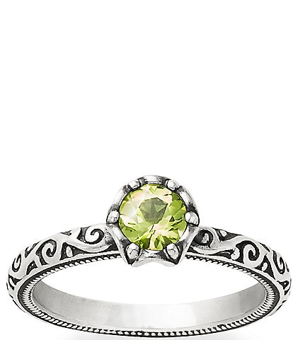 James Avery Cherished Birthstone Ring with Peridot
