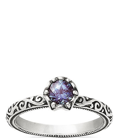 James Avery Cherished Sterling Alexandrite Birthstone Ring