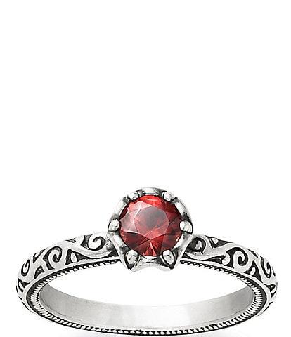 James Avery Cherished Sterling Garnet Birthstone Ring
