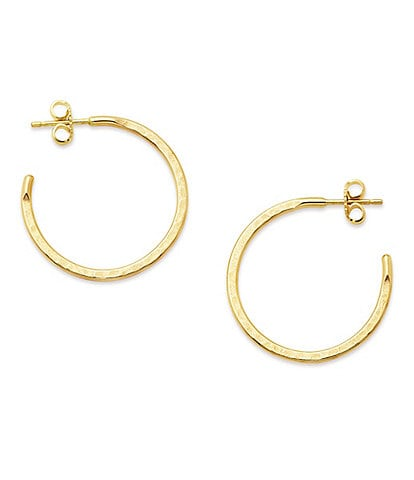 James Avery Classic Small Hammered Hoop Earrings