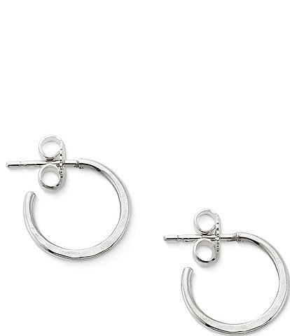 James Avery Classic Hammered Hoop Earrings