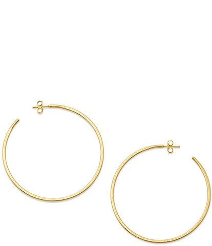 James Avery Classic Large Hammered Hoop Earrings