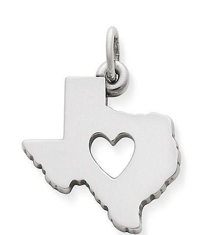James Avery Deep In The Heart of Texas Sterling Silver Charm