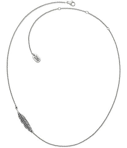 James Avery Delicate Feather Necklace