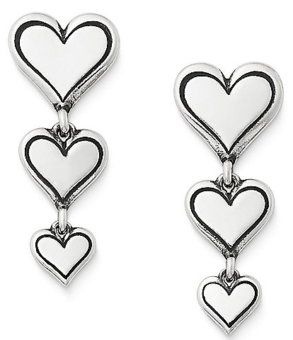 James Avery Delicate Heart Cascading Ear Posts