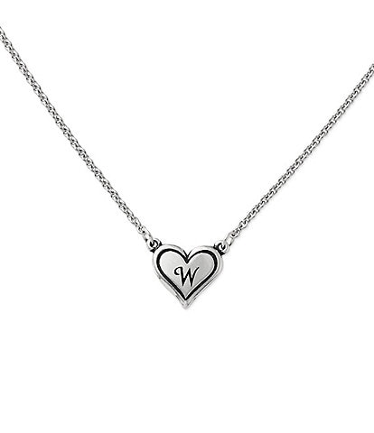 James Avery Delicate Heart Initial Necklace