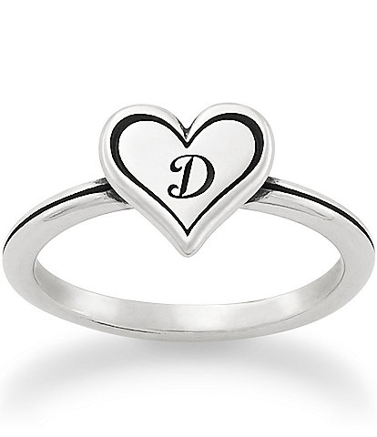 James Avery Delicate Heart Initial Ring