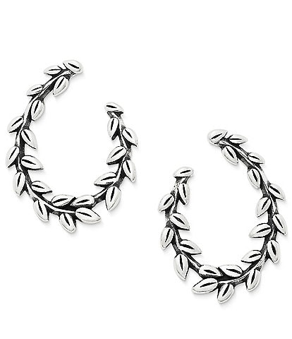 James Avery Delicate Vines Wrapped Hoop Ear Posts