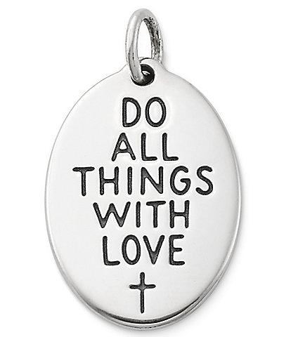 James Avery #double;Do All Things with Love#double; Charm