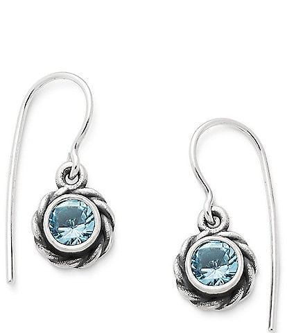 James Avery Elisa Ear Hooks November Birthstone with Blue Topaz