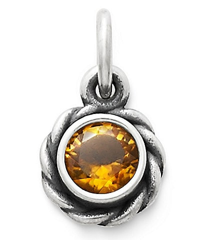James Avery Elisa Pendant November Birthstone with Citrine