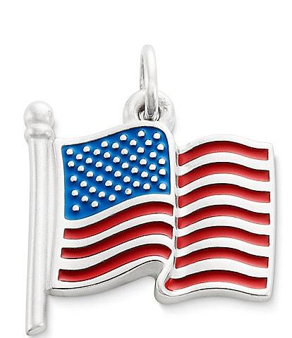 James Avery Enamel American Flag Charm