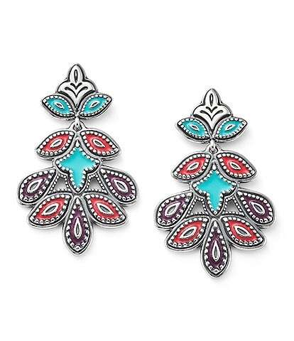 James Avery Enamel Cordoba Mosaic Earrings