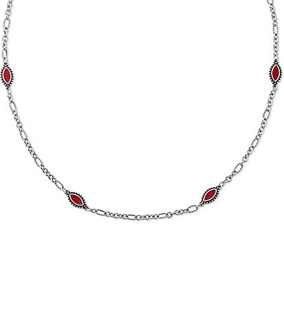 James Avery Red Enamel Cordoba Necklace
